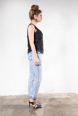 ladies sequin top