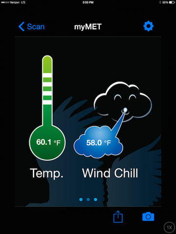 WeatherHawk myMet - Temperature & Wind Chill