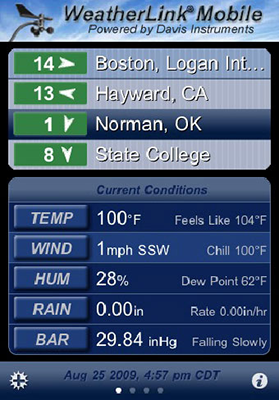 WeatherLink Mobile App for iPhone or Android