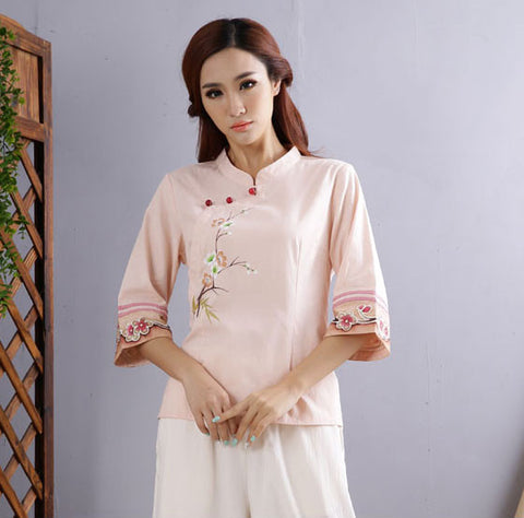 Chinese Traditional Handpainted Taiji Shirt for Women - Wudang Store