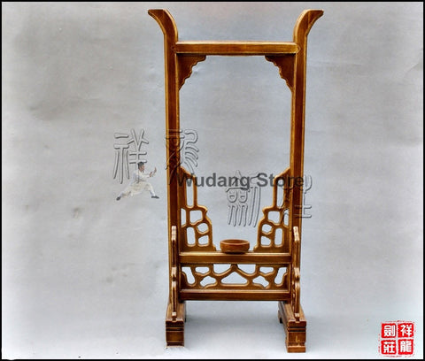 Wooden Brown High Weapon Rack - Wudang Store