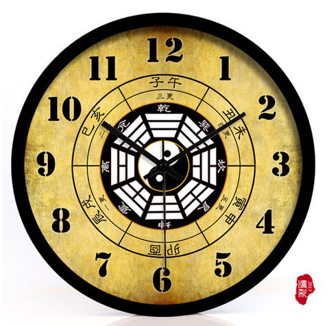 Chinese Feng Shui Bagua Wall Clock [3 Sizes] - Wudang Store