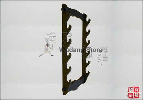 Black Hanging Shelf for 6 Swords - Wudang Store
