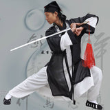 White Wudang Taoist Uniform with Black Overcoat