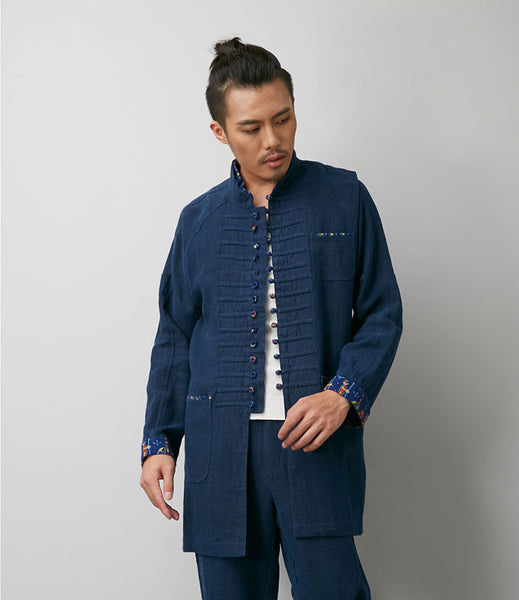 Progressive Chinese Navy Blue Tai Chi Jacket