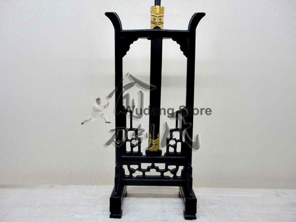 Wooden Black High Weapon Rack - Wudang Store