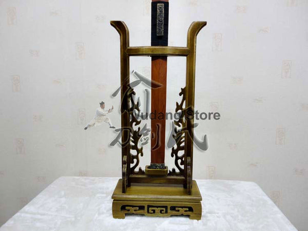 Wooden Brown High Sword Rack - Wudang Store