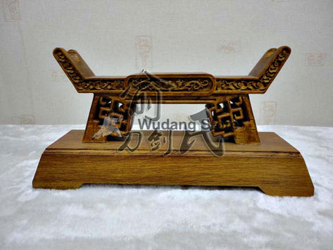 Stable Traditional Brown Sword Shelf