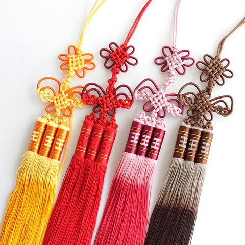 Traditional Hand-Woven Kung Fu Sword Tassel 4 Colors