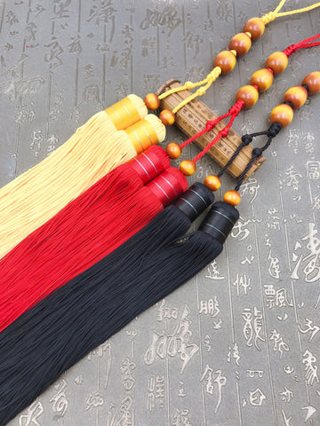 Chinese Beewax Beads Kung Fu Sword Tassel 3 Colors