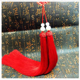 Traditional Red Sword Tassel with Chinese Good Luck Knot