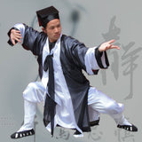 Black and White Wudang School Uniform with Overcoat