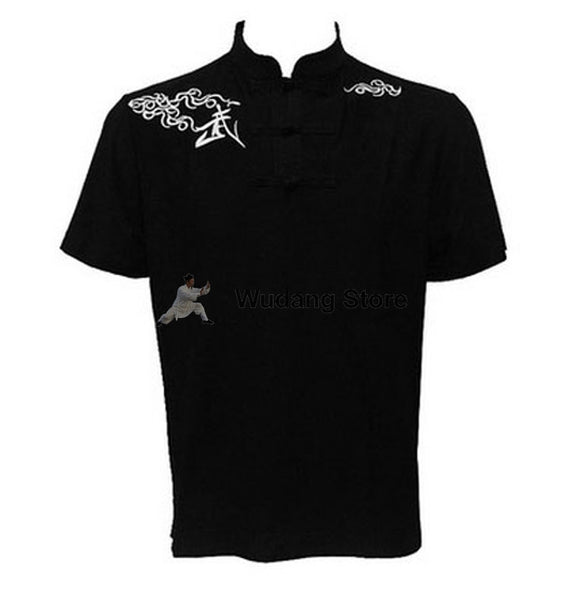 Black Short Sleeve Martial Arts T-Shirt - Wudang Store