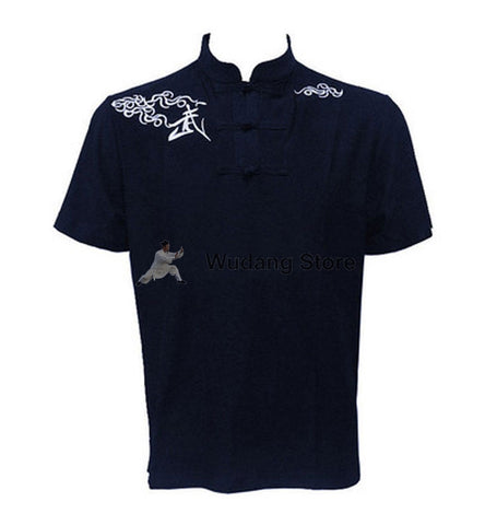 Navy Blue Short Sleeve Martial Arts T-Shirt