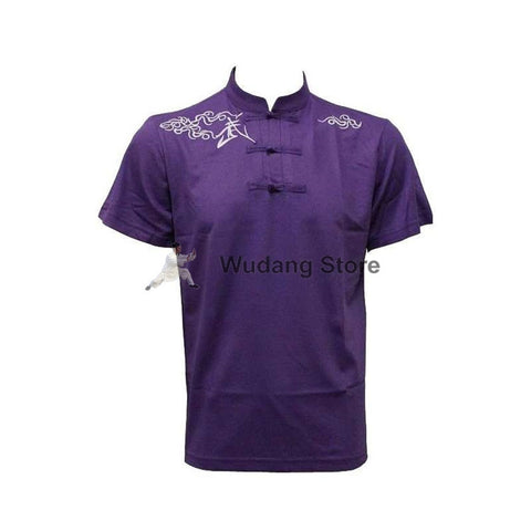 Purple Short Sleeve Martial Arts T-Shirt - Wudang Store