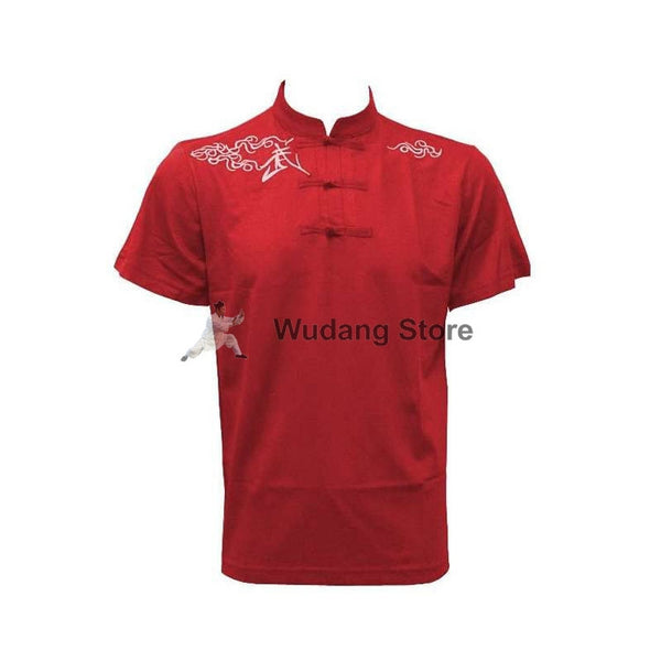 Red Short Sleeve Martial Arts T-Shirt - Wudang Store