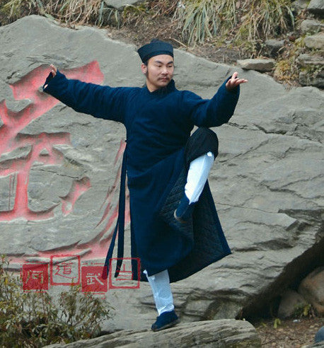 Wudang Winter Coat Overlap Collar with Traditional Sword Ropes - Wudang Store
