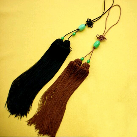 Classical Double Sword Tassel with Beads 2 Colors - Wudang Store
