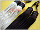 Sword Double Tassel with Hand-Carved Wooden Bead 2 Colors