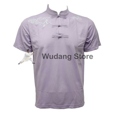 Lavender Short Sleeve Martial Arts T-Shirt - Wudang Store