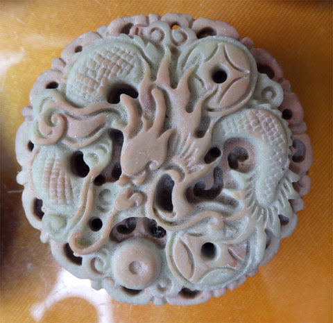 Chinese Dragon Pendant of Sandstone - Wudang Store