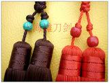 Classical Sword Double Tassel with Turquoise Imitation Beads 4 Colors