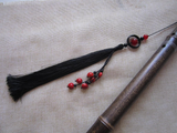 Black Ancient Sword Tassel with Natural Agate & Onyx - Wudang Store