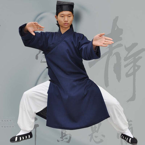 Wudang Taoist Winter Coat with Overlap Collar - Wudang Store