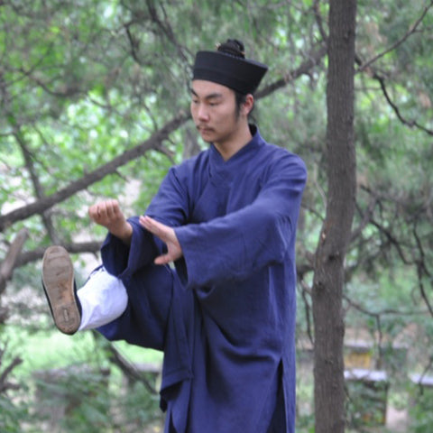 Navy Blue Taoist Uniform