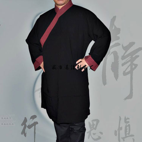 Black and Maroon Taoist Uniform