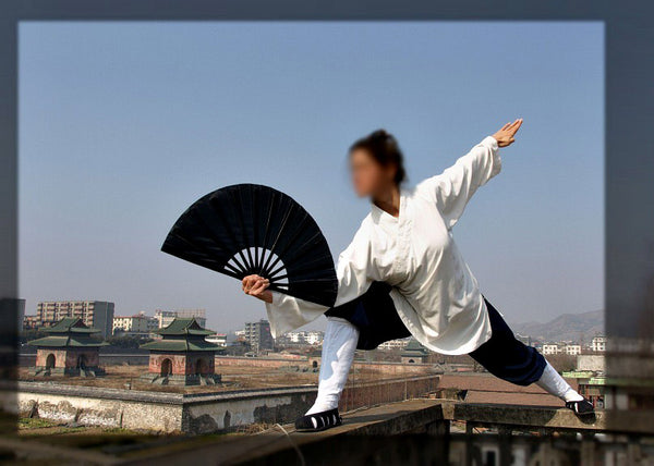 White and Navy Blue Taoist Uniform