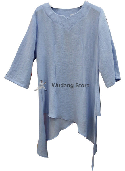 Tender Blue Extravagant Tai Chi Shirt for Women - Wudang Store