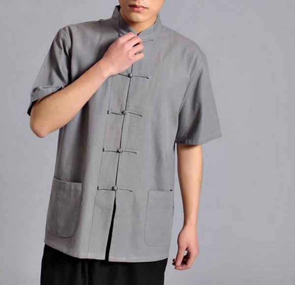 Grey Short Sleeved Tai Chi Shirt - Wudang Store