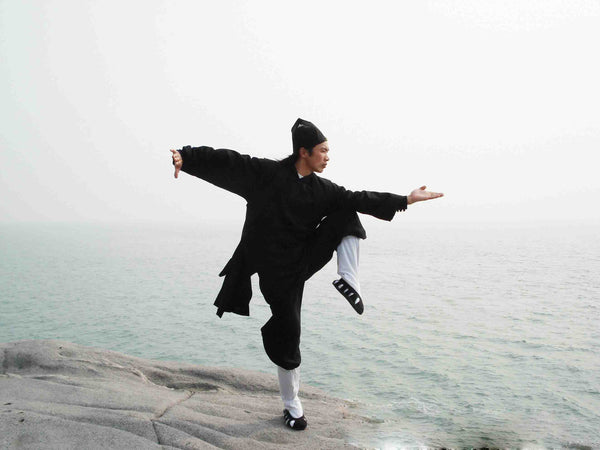 Black Taoist Uniform with Overcoat