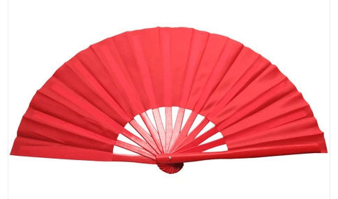 Plain Tai Chi Fan Red - Wudang Store