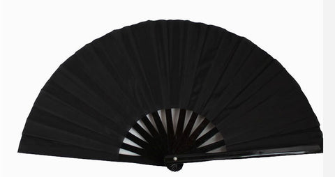 Plain Tai Chi Fan Black - Wudang Store