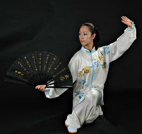 black kung fu fan
