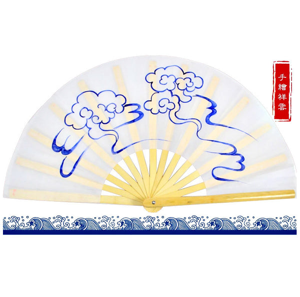 Hand-Painted Tai Chi Fan Wudang Clouds - Wudang Store