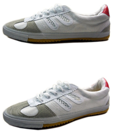 Double Star Canvas Kung Fu Shoes White [Big Sizes]