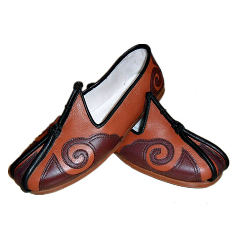 traditional leather sole tai chi shoes