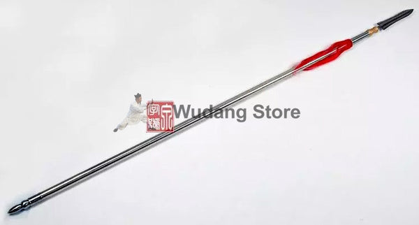 Stainless Steel Qiang with Pattern Steel Point - Wudang Store