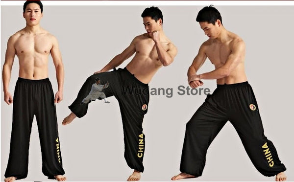 Black Sport Function High Elastic Tai Chi Pants S-XXXL