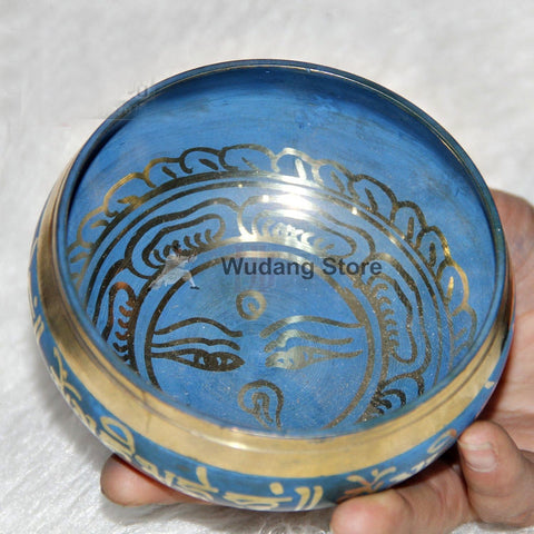 Blue Copper Sound Bowl 6 sizes - Wudang Store