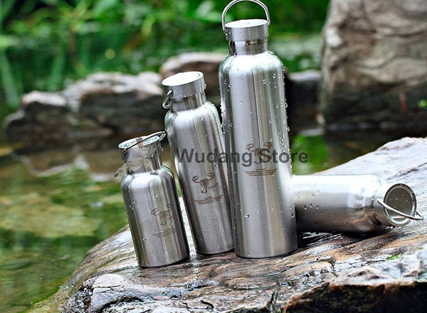 Healthy Stainless Steel Bottle 400-1000ml Lexie - Wudang Store