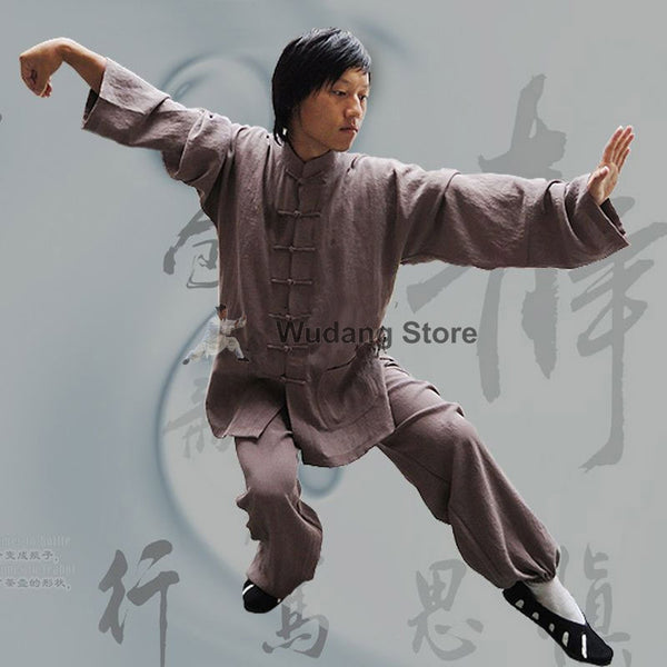 Coffee Brown Tai Chi Uniform