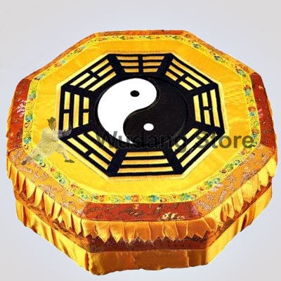 Wooden Yellow Bagua Taoist Kneeling Stool