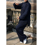 Dark Blue Tai Chi Uniform - Wudang Store