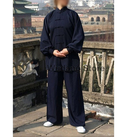 Dark Blue Tai Chi Uniform