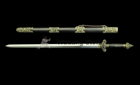 Twin Dragon Heaven Tai Chi Jian by Quanjian Forge - Wudang Store