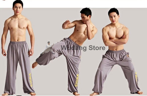 Grey Sport Function High Elastic Tai Chi Pants S-XXXL - Wudang Store